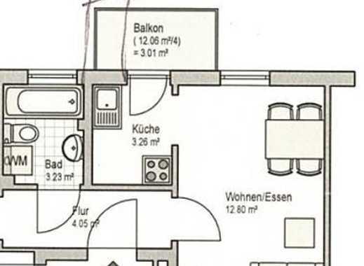 WG-Zimmer 13qm mit kleiner extra Küche und kleinem Balkon