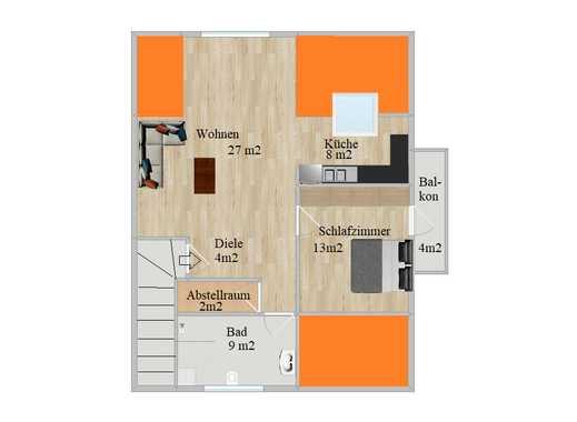 890 €, 65 m², 2 Zimmer