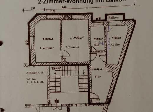 2-Zimmer-Wohnung mit Balkon und Einbauküche in Dresden Neustadt