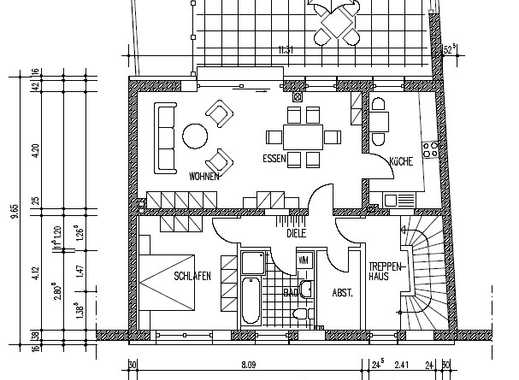 Gepflegte 2-Zimmer-Wohnung mit großer Terrasse in Issum