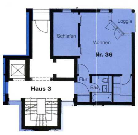 Helle, gemütliche 1,5-Zimmerwohnung im Erdgeschoss -stadtnah- in Deggendorf