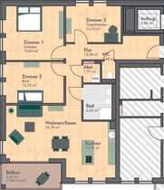 Erstbezug exklusive 4-Zimmer-Wohnung mit EBK