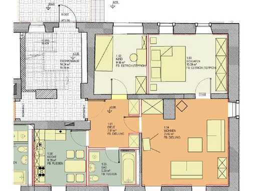 geräumige 3-Raum-Wohnung in Könnern OT Poplitz *Kamin*Tageslichtbad*Badewanne*PKW-Stellplatz