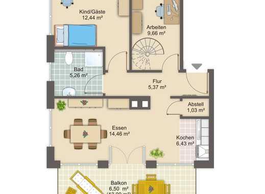Schöne 4 1/2-Zimmer-Maisonettenwohnung, Lich, bevorzugte Wohnlage, Neubau-Erstbezug, Balkon