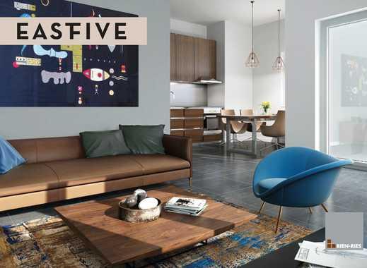 Elegant logieren im Frankfurter Ostend – 2 Zimmer-Wohnung mit sonniger Dachterrasse
