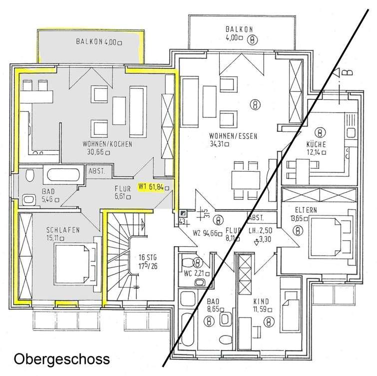 Obergeschoss Links