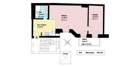 *trendiges Schlachthofviertel*sanierte 2-Zimmerwohnung mit Balkon*EBK*Keller* in Ludwigsvorstadt-Isarvorstadt (München)