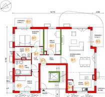 Großzügige helle 4-Zimmer-Wohnung mit Gartenanteil