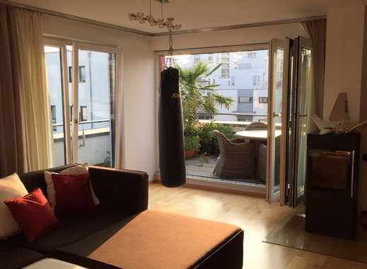 Exklusive, neuwertige 3,5 Zimmer-Wohnung mit umlaufender Dachterrasse und EBK in Mainz