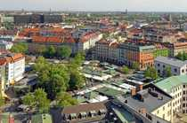 Viktualienmarkt - über den Dächern Münchens -