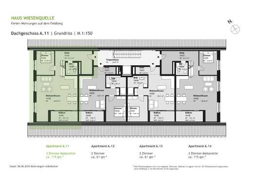 A.11 - 3 Zimmer Maisonette im Dachgeschoss mit SW-Ausrichtung - HAUS WIESENQUELLE Feldberg