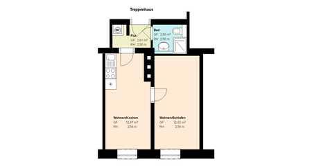 *Haidhausen*Teilsanierung*1- Zimmer* Wohnküche mit EBK*möbliert*EBK*Duschbad*Parkett* in Haidhausen (München)