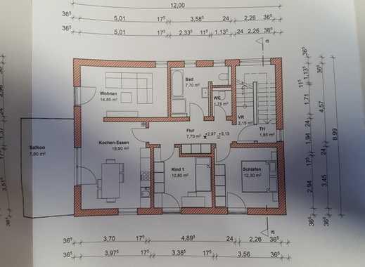 Erstbezug: schöne 4-Zimmer-Wohnung mit Balkon in Waidhofen