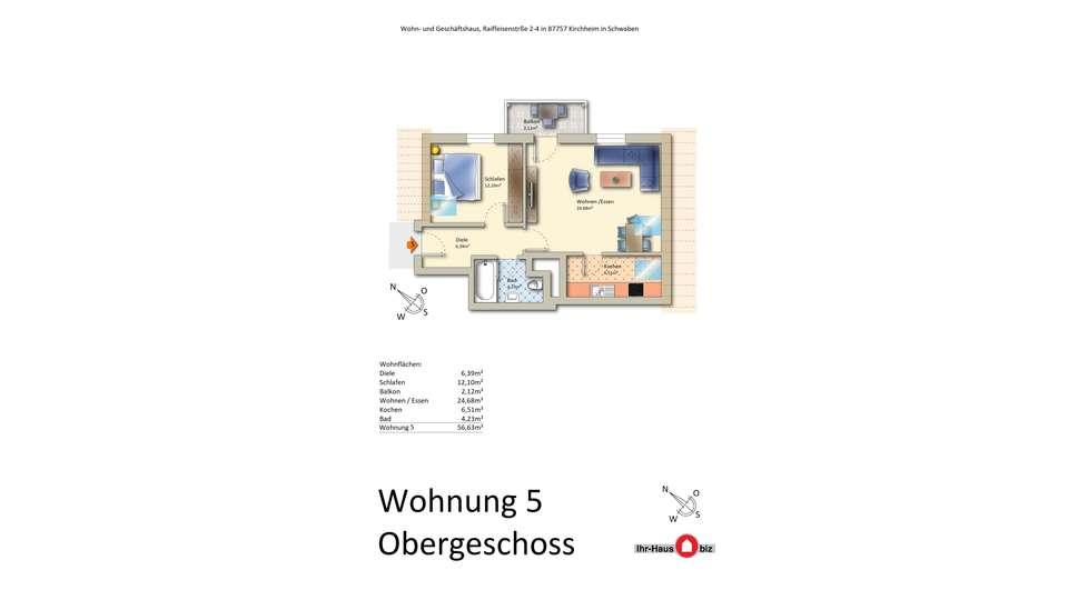 Wohnung 5 im 1. Dachgeschoss