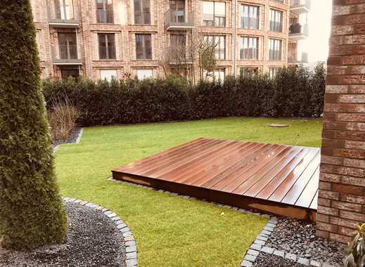 Zollhafen Südmole: luxeriöse 3-Zimmer-Wohnung mit Balkon und Garten