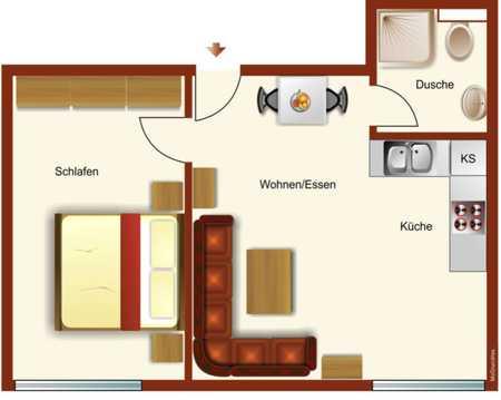 Erstbezug nach Sanierung mit Einbauküche: stilvolle 2-Zimmer-EG-Wohnung in Eichstätt in Eichstätt