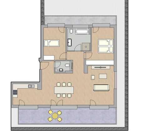 Erstbezug mit 2 Terrassen: exklusive 3-Zimmer-Penthouse-Wohnung in Dachau in Dachau