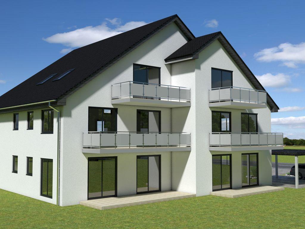 erdgeschosswohnung mit gartenanteil im neubau kfw 55 haus. Black Bedroom Furniture Sets. Home Design Ideas