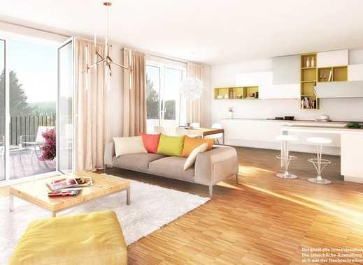 Charmantes Neubau City Apartment: 2-Zimmer, Balkon, Fußbodenheizung und design Bodenbelag