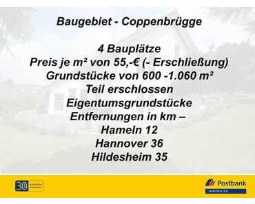 PB-I Baugebiet im Altbestand, Blick auf den Ith, 4 Grundstücke in Coppenbrügge