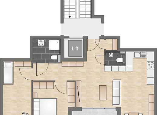 Neubau: 3-Zimmerwohnung mit offener Küche und Gäste-WC