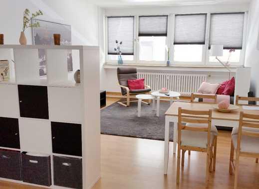 D'dorf-Oberkassel: freies, helles, vollmöbliertes Apartment, klasse Lage - ruhig gelegen