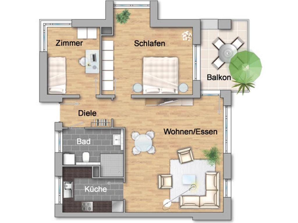 3-Zimmerwohnung im 1.OG