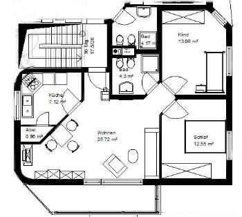 Gepflegte 3-Zimmer-Wohnung mit Balkon und Einbauküche in Mömbris in