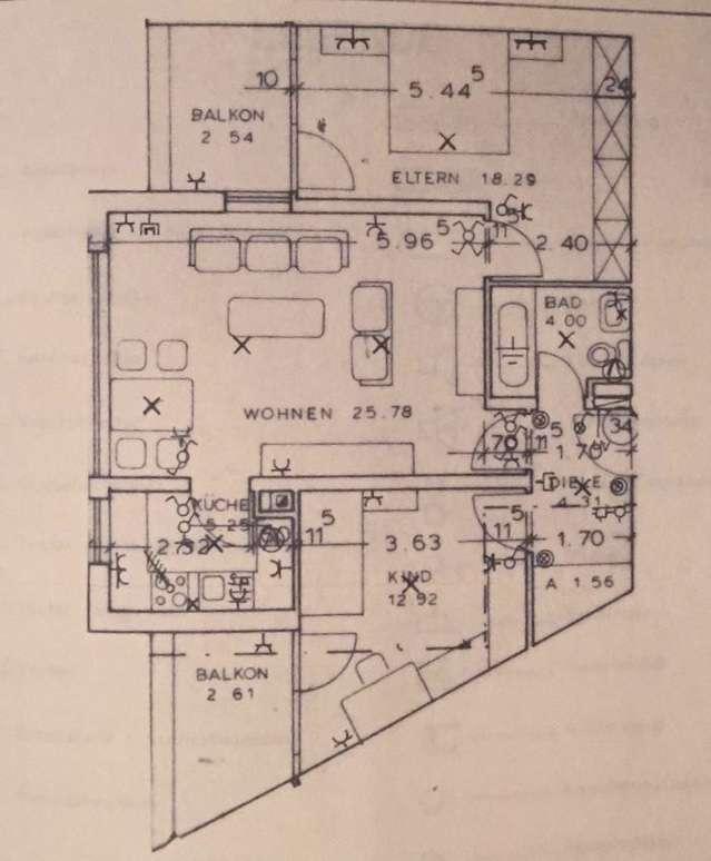 75,5 qm -Wohnung in