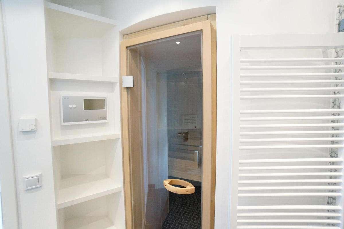 Eingang zur Sauna