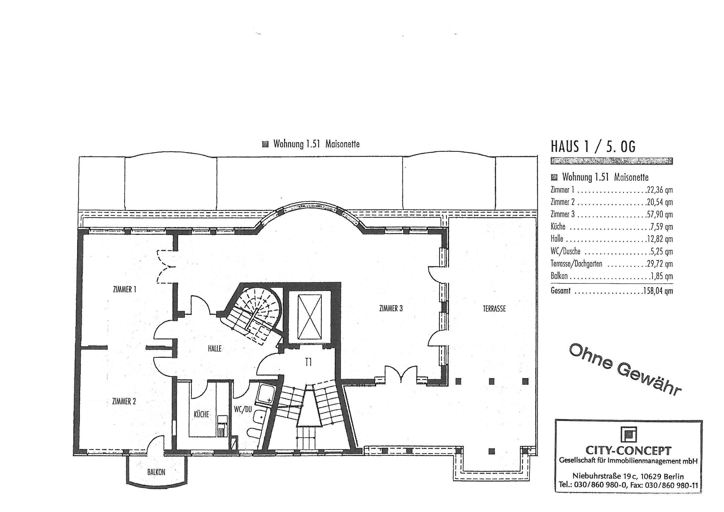 Grundriss Penthouse 1.51 Ebene