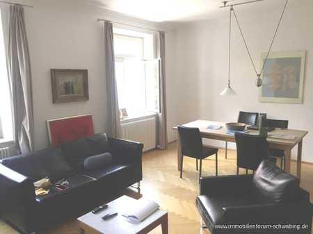 Vermietung für 1 Jahr: Möblierte Wohnung in Schwabinger Altbau mit Balkon in Maxvorstadt (München)