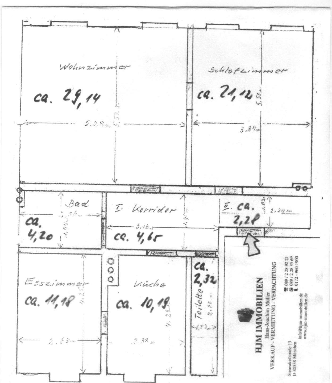 Altbau 3 Zimmer Wohnung + Wohnküche im LEHEL- München -  OFFENE BESICHTIGUNG 22.11.19; 16:30 h- in Lehel (München)
