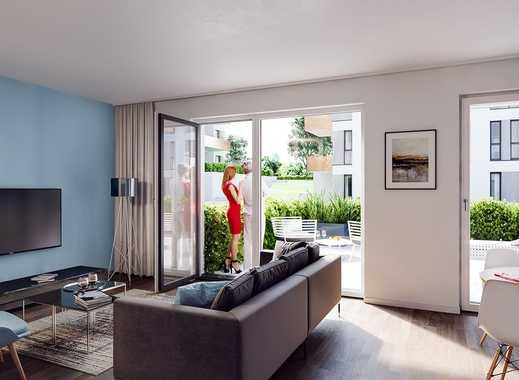 PANDION VILLE - Lichtdurchflutete 2-Zimmer-Wohnung mit Terrasse und ca. 25 m² großem Privatgarten