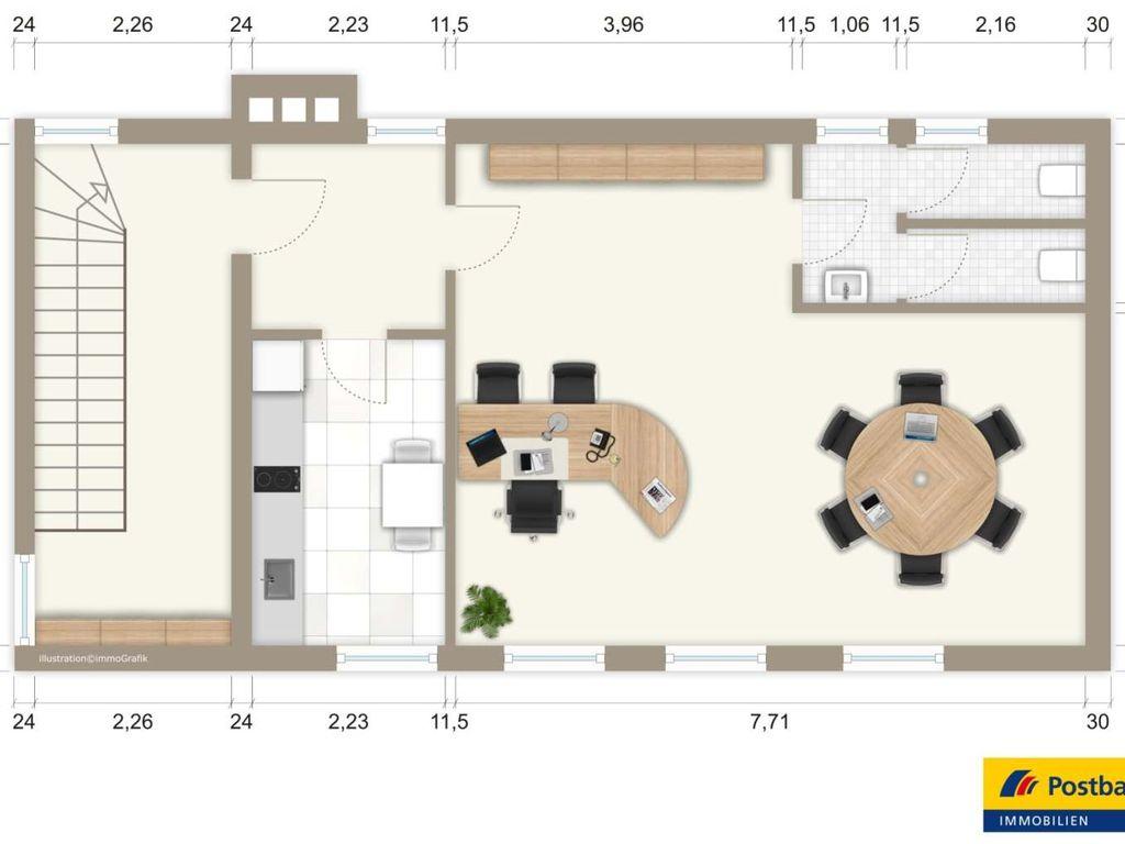 kleines aber feines city b ro nur ihre b rom bel fehlen noch. Black Bedroom Furniture Sets. Home Design Ideas