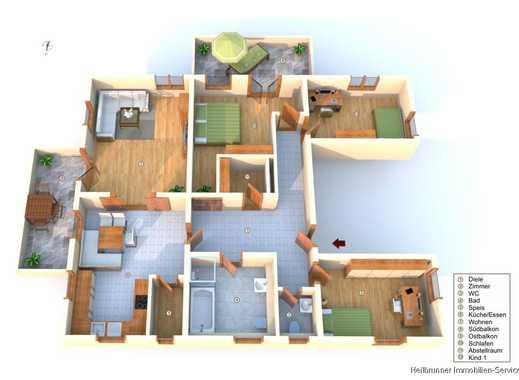 Sehr gut ausgestattete 4,5 - Zimmer-Wohnung **zwei Balkone**Aufzug**Einbauküche** frei ab Dezember