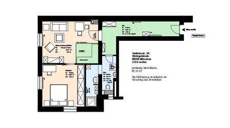 *Schwanthalerhöhe*möblierte*teilsanierte*2 Zimmer Wohnung*EBK*Keller* in Schwanthalerhöhe (München)