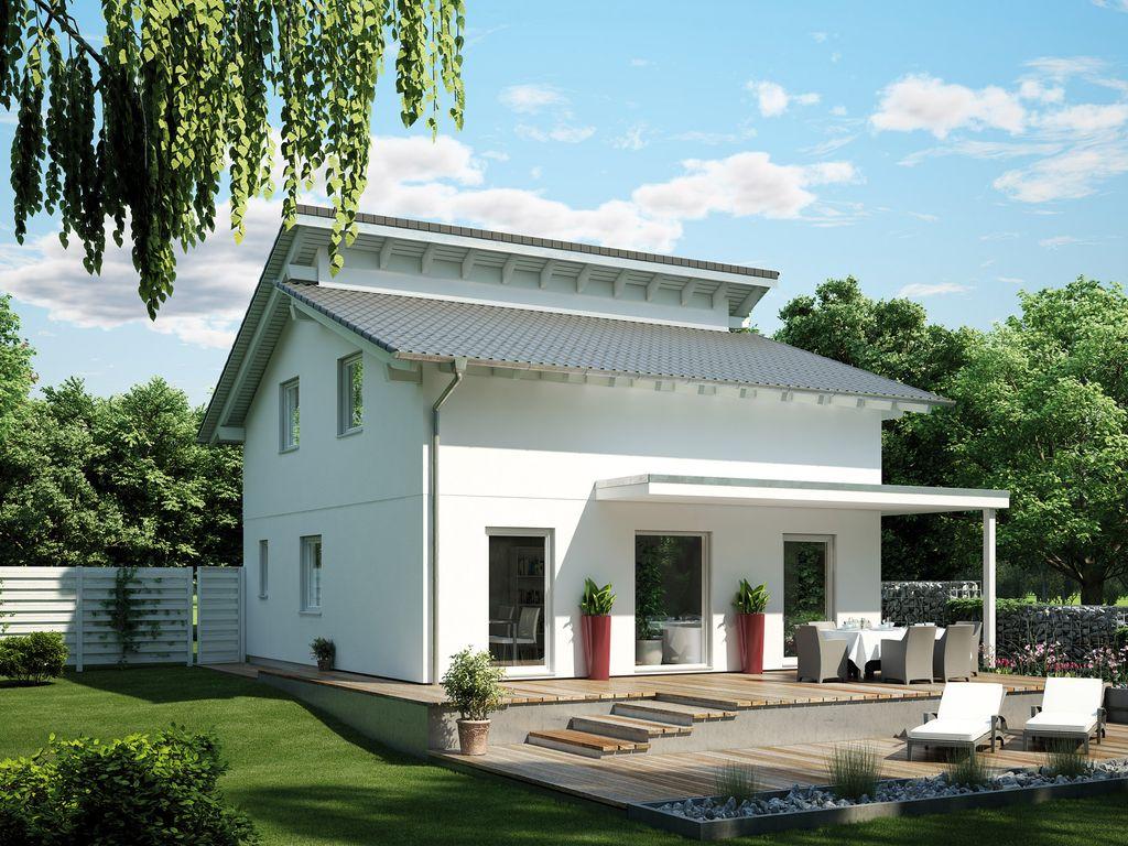 Moderne architektur mit versetztem pultdach for Modernes haus mit versetztem pultdach