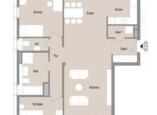Elegante 3 Zimmer Neubauwohnung - Quartier Stadtgärten am Henninger Turm