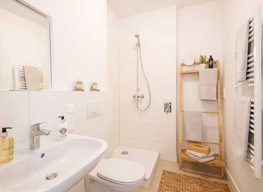Moderner Grundriss. 2-Zimmer-Wohnung auf ca. 57 m² mit offenem Flur direkt ins Wohnzimmer.