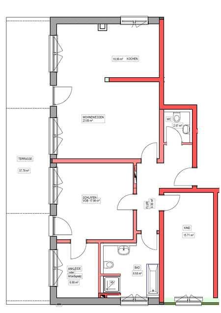 Erstbezug mit Terrasse: große 3,5-Zimmer-Wohnung in Regenstauf in Regenstauf