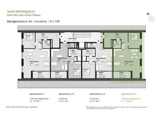 A.14 - 3 Zimmer Maisonette im Dachgeschoss mit SW-Ausrichtung - HAUS WIESENQUELLE Feldberg