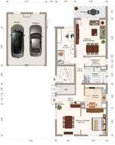 Gepflegte 4 5-Raum-Erdgeschosswohnung mit Balkon