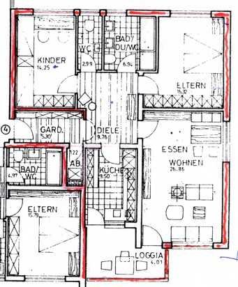 Helle 3-Zimmer-Wohnung mit Südbalkon und Aufzug in Bad Königshofen im Grabfeld