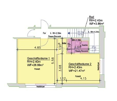 Büro klein Grundriss