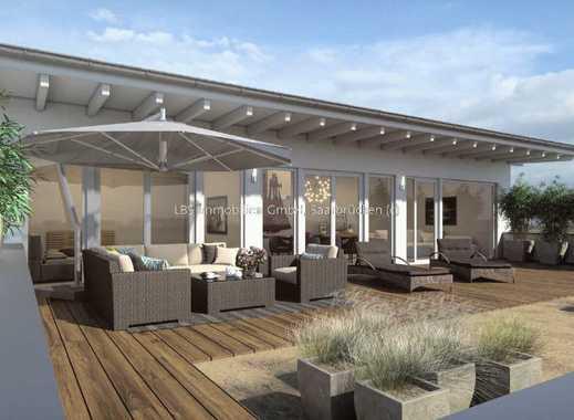 Penthouse-Wohnung mit Balkon in Tanzsaalgröße