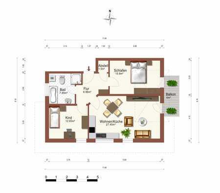 Sehr schöne 3-Zimmer Wohnung in Deggendorf