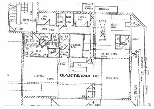 Grundriss der Gaststätte