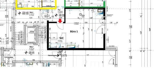 Grundriss 1. OG, Büro 1, 44 m²