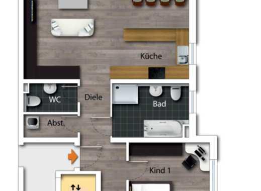 Erstbezug: attraktive 3-Zimmer-Erdgeschosswohnung mit Einbauküche und Balkon in Grünstadt